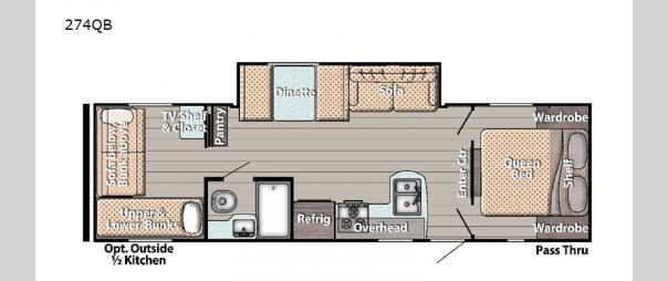 Kingsport Ultra Lite 274QB Floorplan