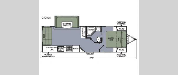Apex Ultra-Lite 250RLS Floorplan
