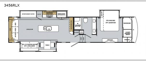 Cardinal Luxury 3456RLX Floorplan
