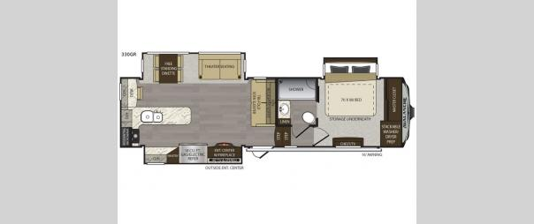 Avalanche 330GR Floorplan