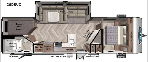 Salem 26DBUD Floorplan