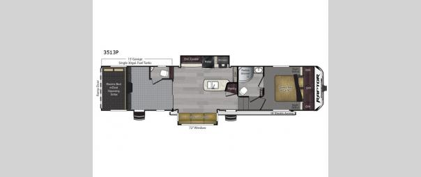 Raptor Predator Series 3513 Floorplan