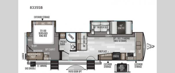 Rockwood Signature Ultra Lite 8335SB Floorplan