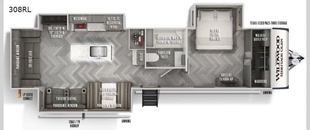 Wildwood Heritage Glen 308RL Floorplan