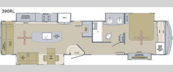 River Ranch 390RL Floorplan