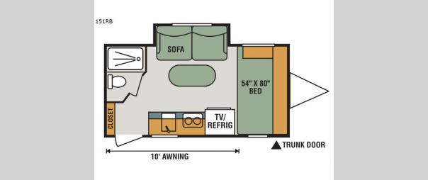 Sportsmen Classic 151RB Floorplan