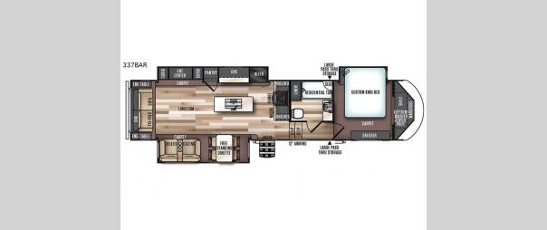 Salem Hemisphere 337BAR Floorplan