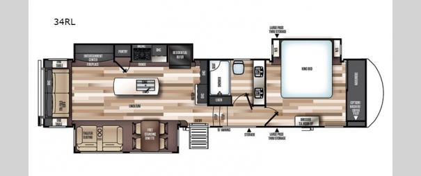 Wildwood Heritage Glen Elite Series 34RL Floorplan