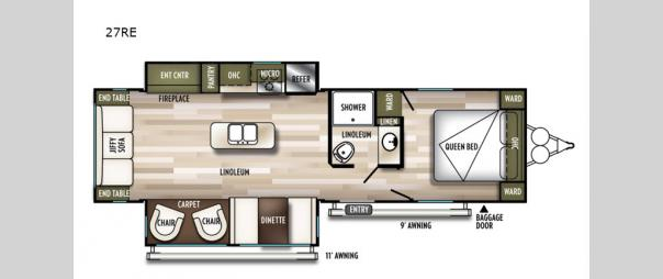 Wildwood 27RE Floorplan