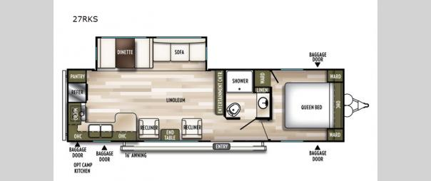 Wildwood 27RKS Floorplan