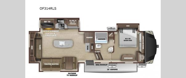 Open Range OF314RLS Floorplan