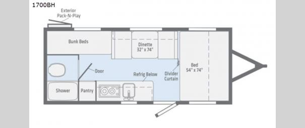 Micro Minnie 1700BH Floorplan