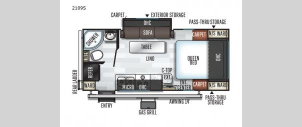 Rockwood Mini Lite 2109S Floorplan