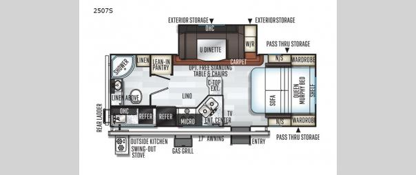 Rockwood Mini Lite 2507S Floorplan