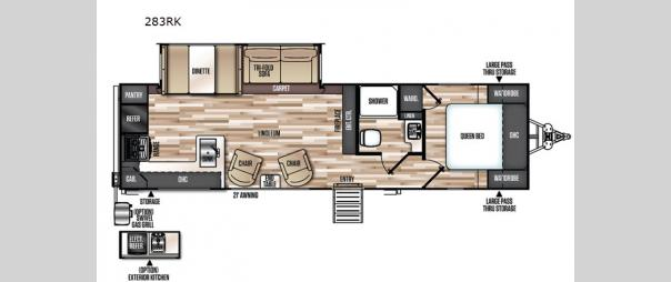 Wildwood Heritage Glen 283RK Floorplan