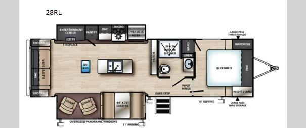 Vibe 28RL Floorplan