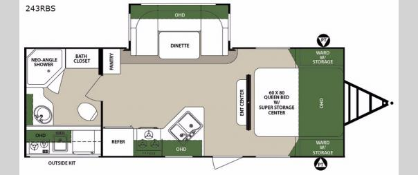 Surveyor 243RBS Floorplan