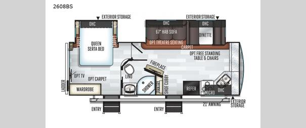Rockwood Ultra Lite 2608BS Floorplan