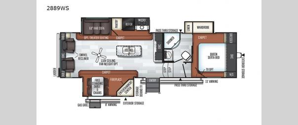Rockwood Ultra Lite 2889WS Floorplan