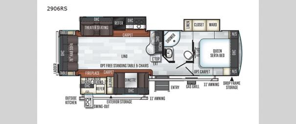 Rockwood Ultra Lite 2906RS Floorplan