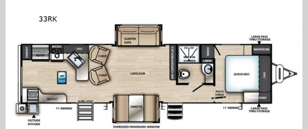 Vibe 33RK Floorplan