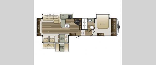 Cougar 327RES Floorplan