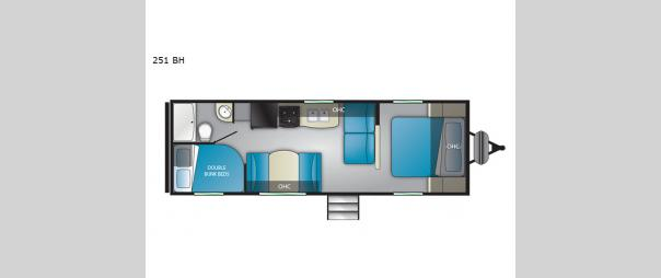 Trail Runner 251BH Floorplan