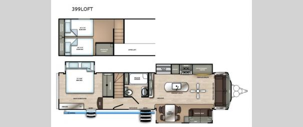 Sierra Destination Trailers 399LOFT Floorplan