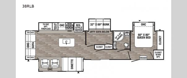 Puma Destination 38RLB Floorplan