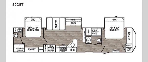 Puma Destination 39DBT Floorplan