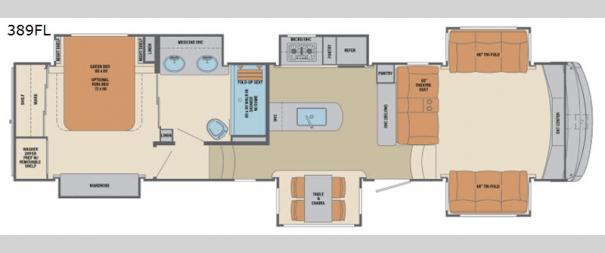 Columbus F389FL Floorplan