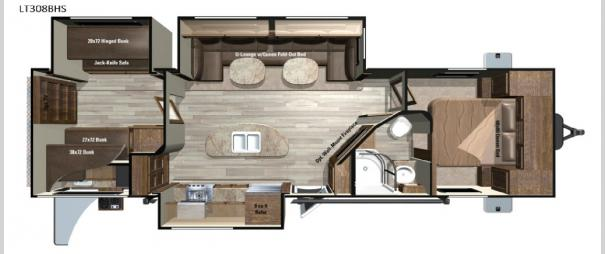 Open Range Light LT308BHS Floorplan