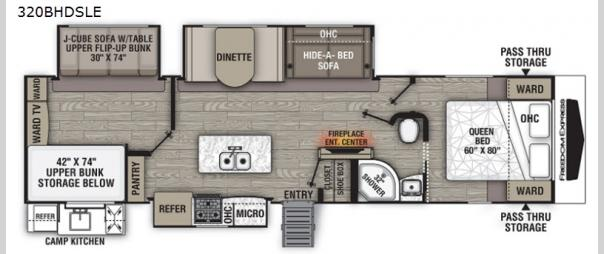Freedom Express Liberty Edition 320BHDSLE Floorplan