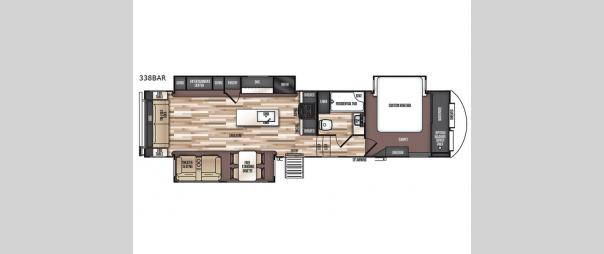 Salem Hemisphere GLX 338BAR Floorplan