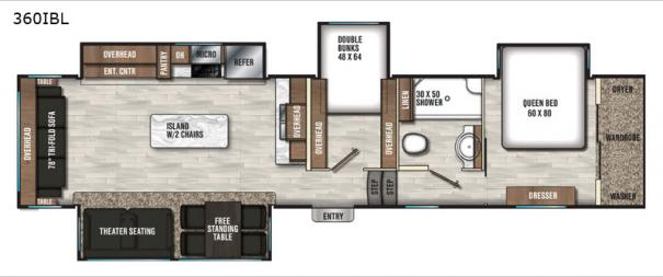 Chaparral 360IBL Floorplan