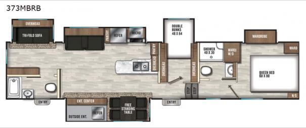 Chaparral 373MBRB Floorplan