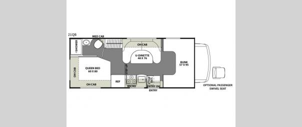 Freelander 21QB  Chevy 4500 Floorplan