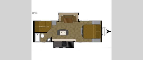 Wilderness 2375BH Floorplan