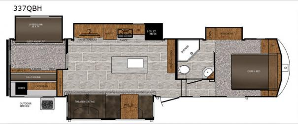Crusader 337QBH Floorplan