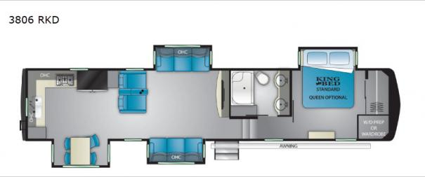 Big Country 3806RKD Floorplan