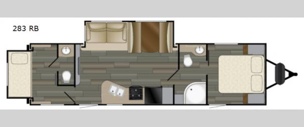 Sundance Ultra Lite 283 RB Floorplan