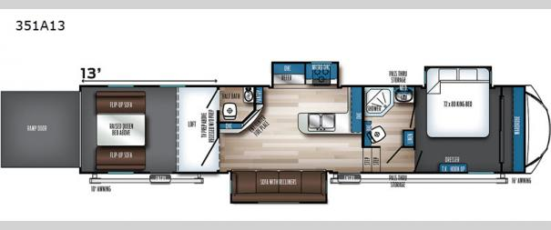 Vengeance Rogue Armored 351A13 Floorplan