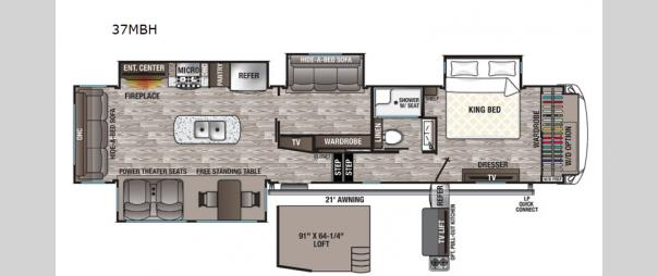 Cedar Creek Silverback 37MBH Floorplan