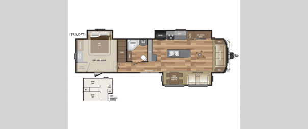 Retreat 391LOFT Floorplan