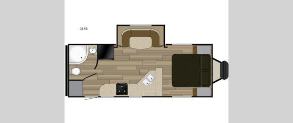 Fun Finder XTREME LITE 21RB Floorplan