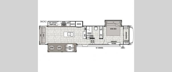 Cedar Creek Hathaway Edition 36CK2 Floorplan