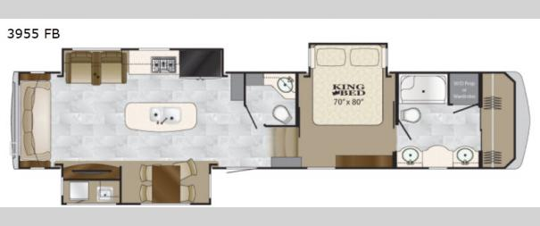 Big Country 3955 FB Floorplan