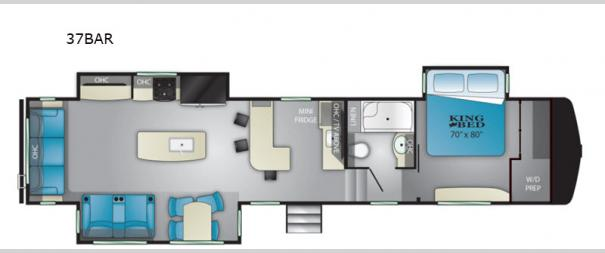 ElkRidge 37BAR Floorplan
