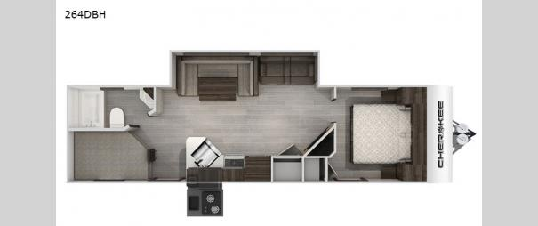 Cherokee Black Label 264DBHBL Floorplan