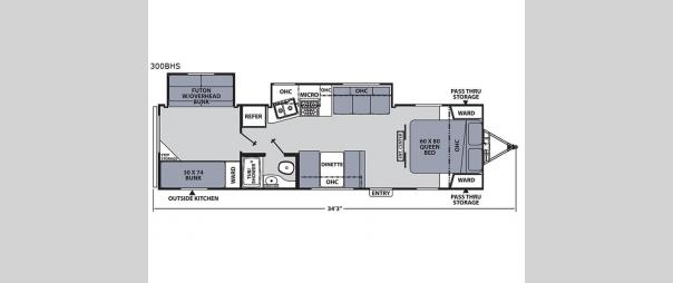 Apex Ultra-Lite 300BHS Floorplan